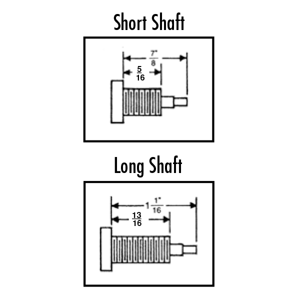 Pendulum Quartz Movement Shafts